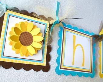 Sunflower, Birthday Banner