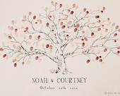 Med. Low Oak Tree, THE Original Fingerprint Tree, Wedding Guest Book Alternative, Original Design, thumbprint tree, (ink pads sold separate)