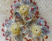 RESERVED for ALIX 1930's Celluoid Flower Pin
