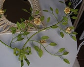 Vintage Floral Italian Tole Ware Wall hanging Shabby Chic Cottage at Retro Daisy Girl