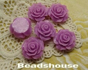 6pcs (20mm) Beautiful Roses Cabochon-Lilac(696-00-CA)