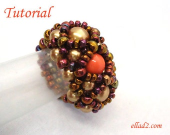 Tutorial Hera Ring - Beading Tutorial by Ellad2