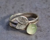 Prehnite and Leaf ring