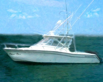Custom Boat Oil Painting Boating Gifts Photo Gift Christmas Photo Gift Boat Painting Gift For Him Canvas Art Home Decor Wall Art  12x16