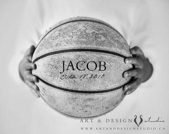 Boys Room Art, Basketball Themed Art, Sports Artwork, Vintage Basketball, Basketball Photograph, Sports Art, Custom Sports Print, Boy Decor