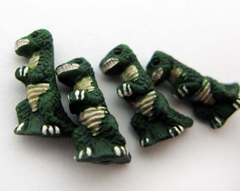 4 Tiny T-Rex Beads - CB216