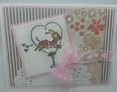 Handmade Card, Greetings, Gift, Valentine, Penny Black - Valentine Dog