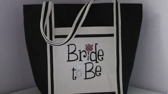 Custom Tote Embroidered Soon To Be Tote for Bride Accessory