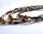 Necklace, Boho Chic, Layering Necklace, Beaded, Fall Collection, Gift for Her, Earthy, Rustic Necklace