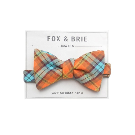 Last One / Gadabout Plaid Bow Tie