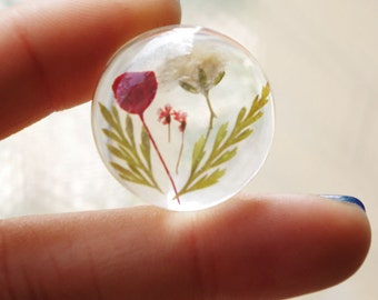 4Pcs Memory Garden/Dry Flowers In Marbles