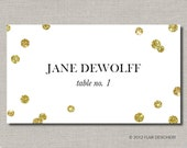 Glitz and Glam Place Cards - Set of 50 - for Weddings, Parties, Events and more by Abigail Christine Design