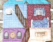 Fold up 3 Story Fabric Doll House, 2 Paper Dolls and Accessories