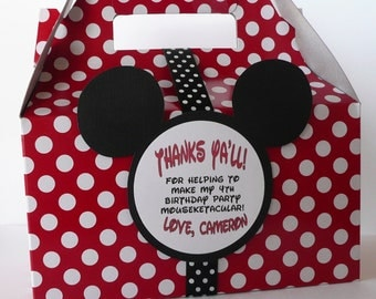 Mickey Mouse Party Favor Box - Set of 10