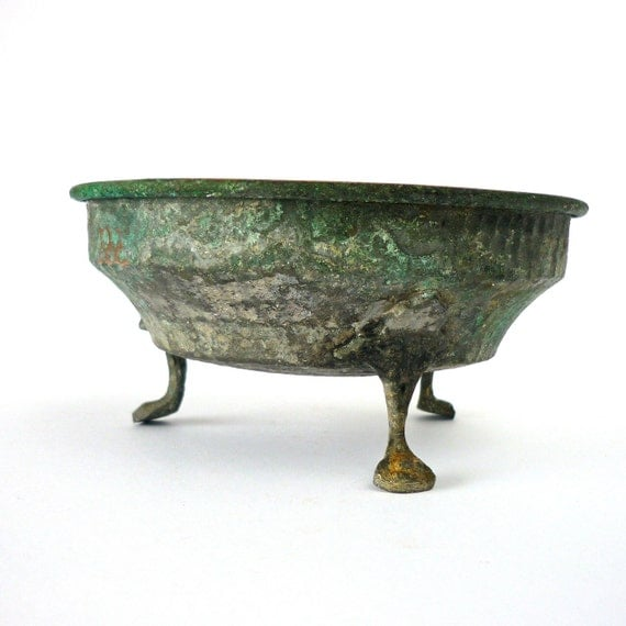 Handmade tin & Copper Bowl hand forged