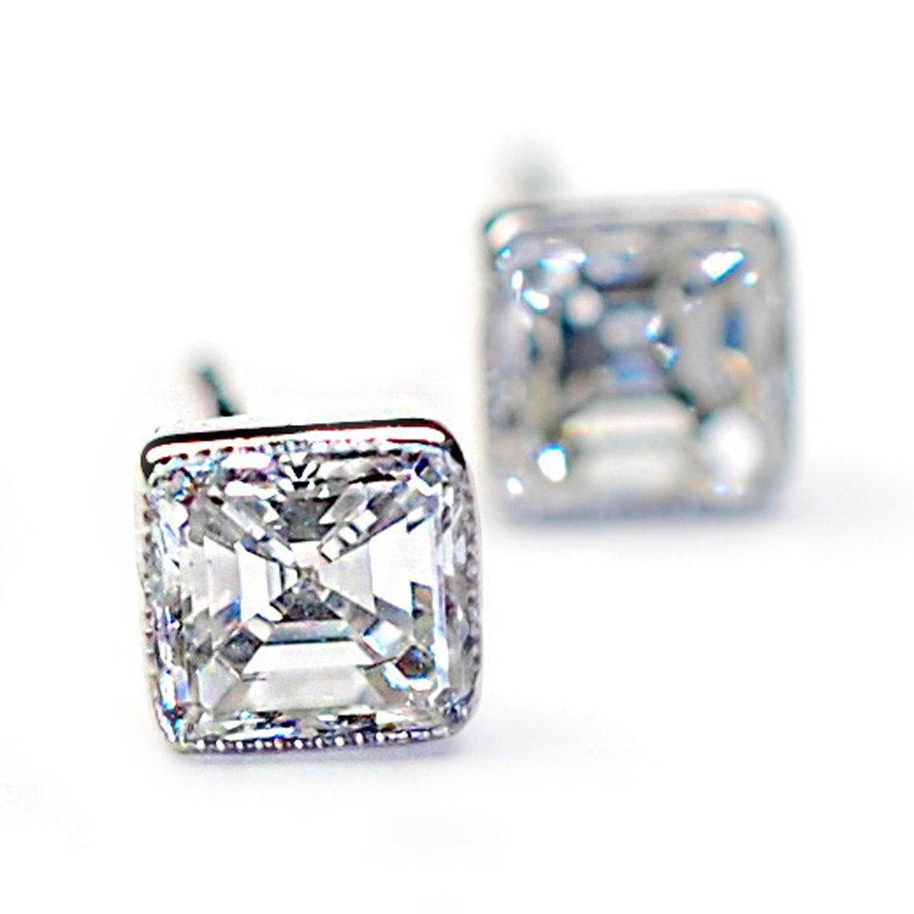 Diamond Earrings Asscher Cut Diamond Earrings Asscher Cut by NIXIN