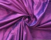"Lavender Purple Turquoise Blue iridescent 100% dupioni silk fabric yardage By the Yard 45"" wide"
