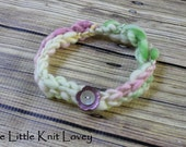 OOAK Hand Spun Merino Wool Knit Headband for Baby Girl, Ready to Ship