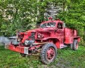 Fire Truck Truck, Shawnee PA, Fine Art Photography, Firetruck Art, Truck Art