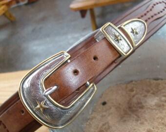 Western Ranger Belt in Java Brown or Rich Deep Brown