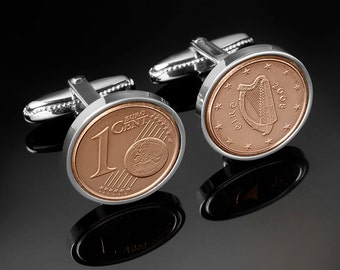 Handmade in Europe- Cufflinks for men-Handmade Irish cufflinks - 100% satisfaction