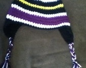 Ravens-inspired Striped Crochet Hat