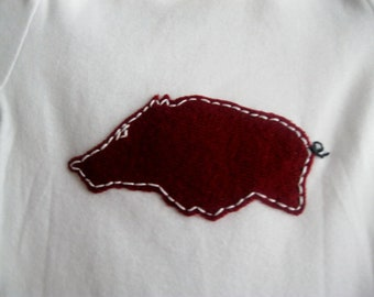 Short Sleeved RAZORBACK Onesies- Licensed