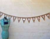 SALE PHOTOBOOTH  PHOTO Booth Hessian Burlap Wedding Celebration Party Banner Bunting Rustic Decoration Engagement sign birthday