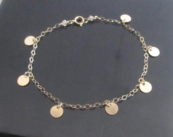 14K Gold Filled Bracelet / Super shimmer upscale look