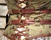 Sage Forest Extra Wide Steampunk Corset Belt
