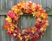 Fall Wreath - Fall Leaf Wreath - Fall Door Wreath - Fall Wreath for Door