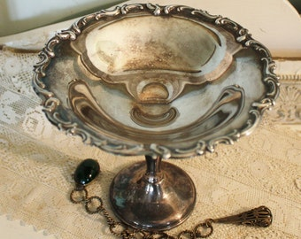 Vintage Silverplate Candy Compote