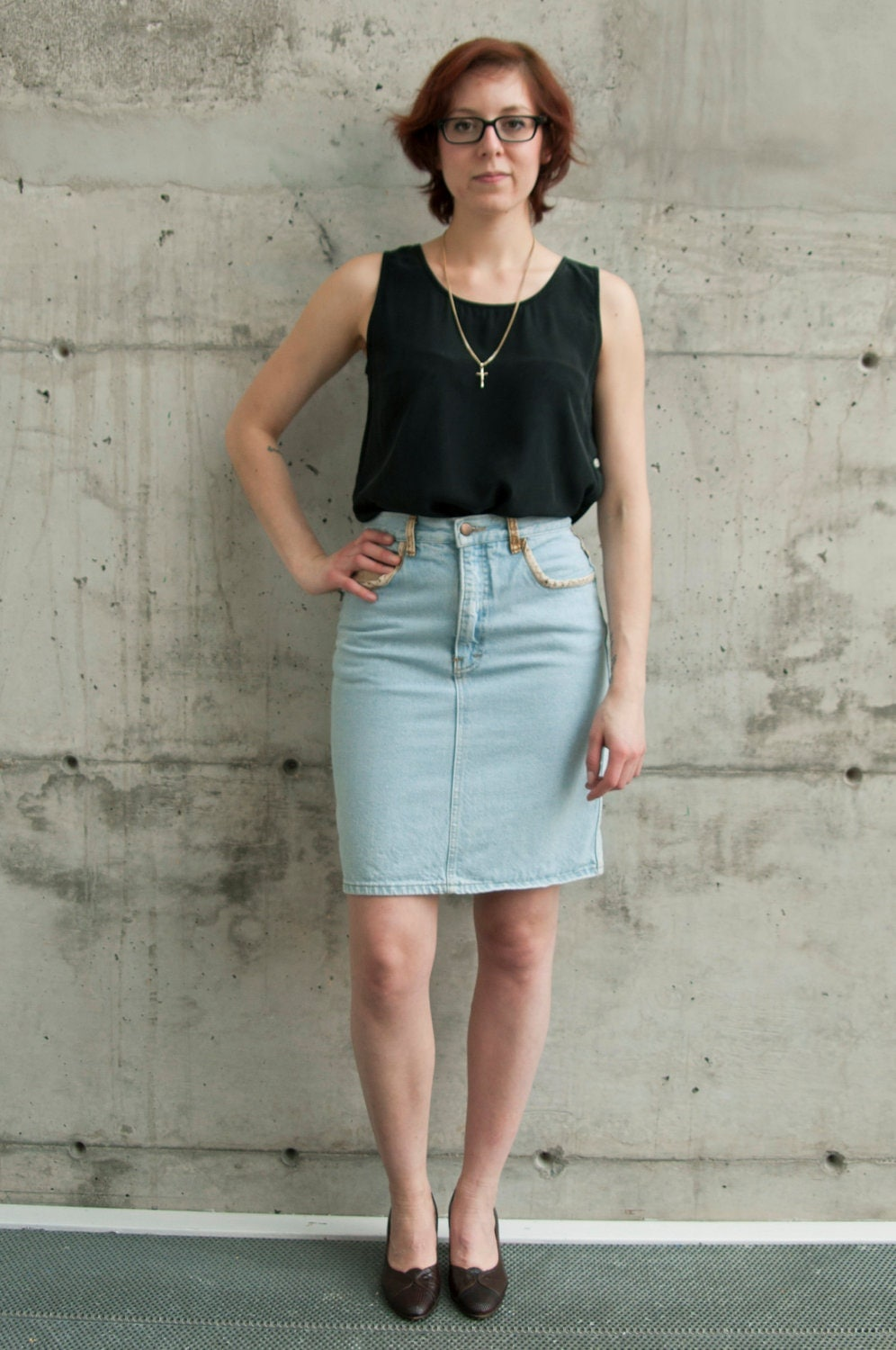 high waisted denim pencil skirt high waisted denim skirt vintage jeans pencil skirt light 650