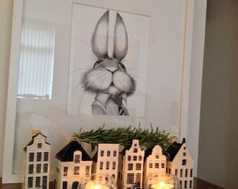 He is the boss rabbit  Giclee Art Print