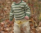 Instant PDF download Crochet Striped Drawstring Winter Baby Pants Pattern 9-12 Month Size (adjustable baby size pattern)
