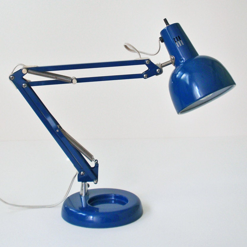Vintage Cobalt Blue Portable Desk Lamp by RattyAndCatty on ...