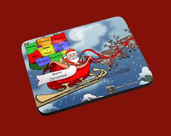 personalized Personalized Santa and Sleigh image Mouse Pad