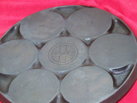 Griswold Cast Iron No. 34 Small Logo Plett Pan 0447