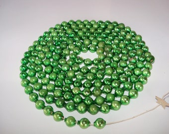 Beautiful Vintage Mercury Glass Garland-5/8 Inch Beads-6.5 feet-Green