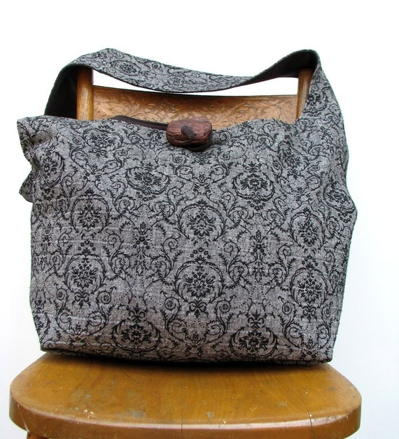 CROSSBODY BAG Hobo Bag Cross Body Bag Crossbody Hobo Bag Hippie Bag Diaper Bag Handmade Bag Black Hobo Bag Boho Bag Hippie Purse