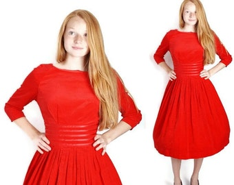 Mad Men / Mad Men Dress / Fashion / Red Dress / Dress / Dresses / Velvet / Cocktail Dress / Party Dress / 1004