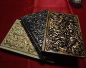 Steampunk Blank Golden Silver Cream White Swirl Drawing Large Sketchbook Mysterious
