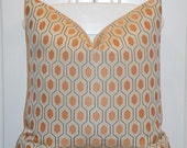 KRAVET - Decorative Pillow Cover -Thom FILICIA -  Accent Pillow - Throw Pillow - Orange - EUCLID in Apricot