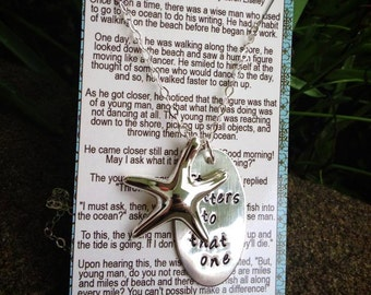The Starfish Story Necklace - All Sterling Version