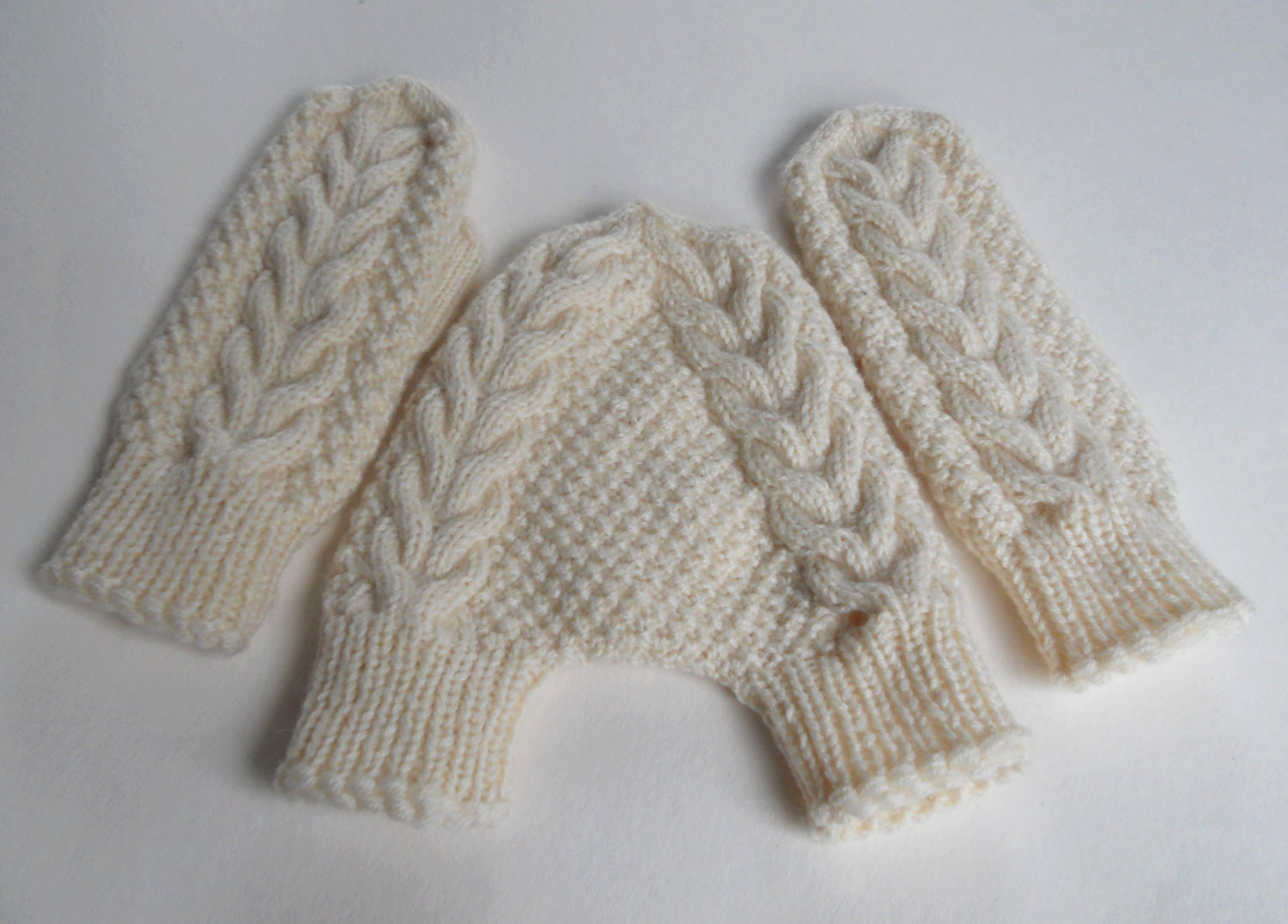 Ideas Knitted Wedding Gifts knit couple mittens white wool knitted ...