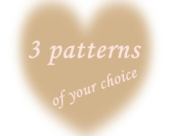 Special Offer for Crochet Knitting Sewn Patterns, Buy this listing and get any 3 patterns