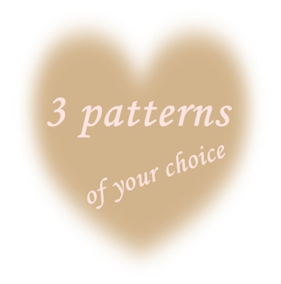 Special Offer for 3 PDF Crochet Knitting Sewn Patterns Buy this