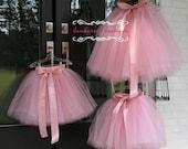 flower girl dress, tulle flower girl dress, dusty rose flower girl dress