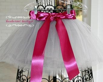 silver tutu, flower girl dress, flower girl tutu, skirt