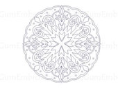 Bluework Winter Mandalas Embroidery Designs Instant Download